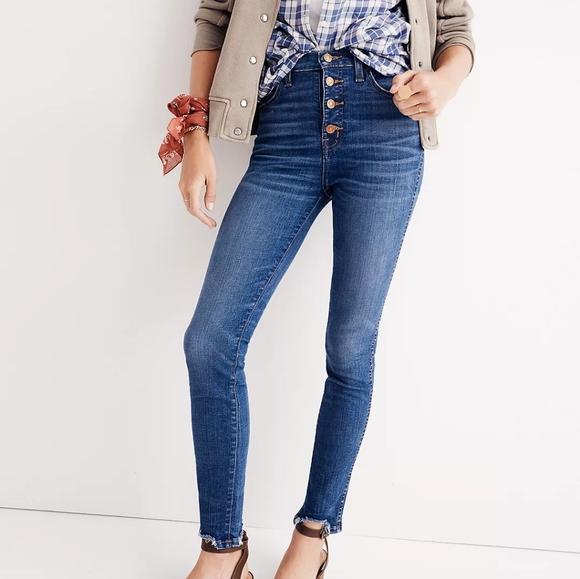 Madewell High- rise Skinny Jeans Chewed-He…